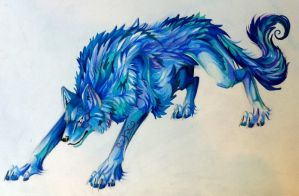 Blue Wolf by Lucky978