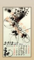 May -- 2012 Fractal Ink Calendar by fengda2870