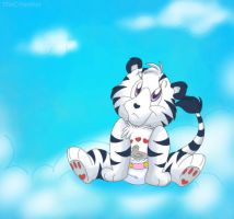 Baby Faith Heart Liger by ThisCrispyKat
