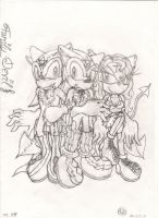 .:Family Devil - Lineart:. by ShadowSilverSonic