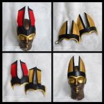 Anubis and Seth ears only leather Headdress by nondecaf