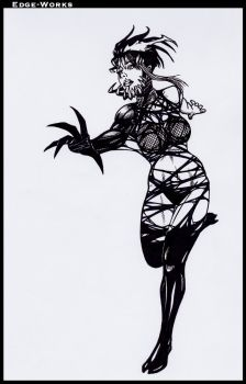 Commission Hinata and symbiote 3 by Edge-Works