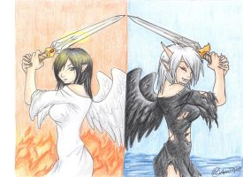Angels and Demons in Balance by creativegoth18