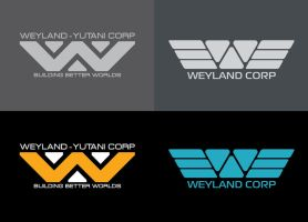 Weyland corp logos by BenedictWallace