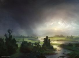 Plains (Innistrad) by AdamPaquette