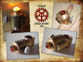 Steampunk Hollow Ring by Steam-HeART