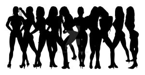 Stripper Girl Silhouettes 10 by egoform
