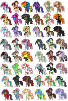 5 Point Pony Adopts by ScaryRainbow