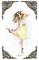 Summer Happiness Fashion Illustration by angelaaasketches