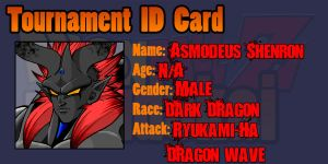 Asmodeus Shenron's Tournament ID by THE-CHAOS-BRINGER