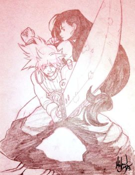 Cloud and Tifa by MichaelMayne