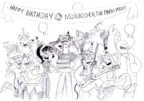 HAPPY BIRTHDAY MORRODERTHEFREAKYGUY! by BreakoutKid