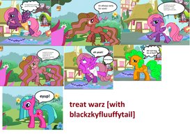 late for work comic[treat warz with blackzky] by MidnightFluffytail