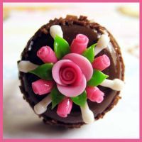 Pink Rose Chocolate Cake Ring by cherryboop