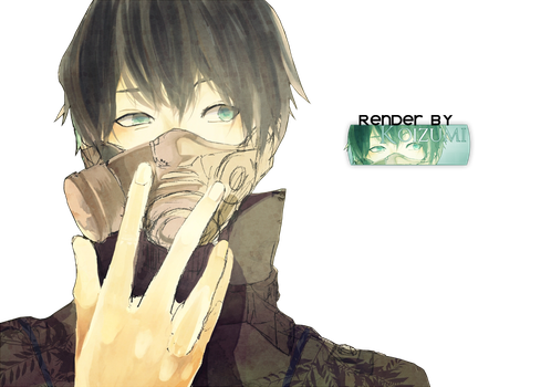 Anime boy: Gas Mask by lKoizumil