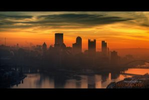 Cold Morning in Pittsburgh by o0xerog0o