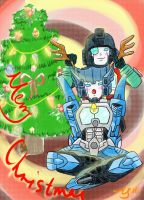 merry christmas blurr and perceptor by ighcaveros