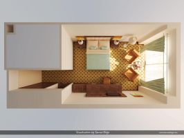 Otel - Master Bedroom - Plan by Semsa