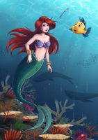 Disney - Ariel and Flounder Rework by Hedrick-CS
