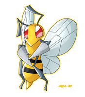 + Beedrill -015 + by PokeChibiArtist98