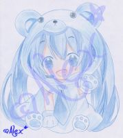 Miku Hatsune Cosplay [Drawing] x3 by Alex-Chii