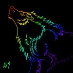 Tablet Rainbow Wolf by Levex01