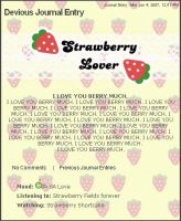 YELLOW Strawberry Free Journal by chat-noir