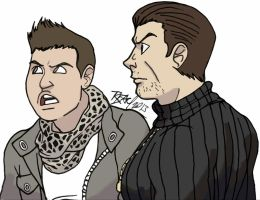Casual Piers Nivans and Chris Redfield by bleyerart