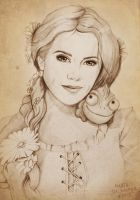 Hanna Marin as Rapunzel by MartaDeWinter