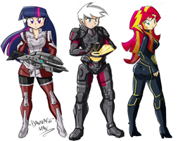 Commission: Mass Effect by DANMAKUMAN
