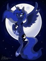 her beautiful night by Lionylioness