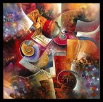 Elixir abstract painting by Amytea