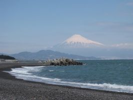 Fujisan from Miho Peninsula by Jellybeansnlilfinch