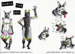 Ref Sheet- Sasha the GSD by SilentServal