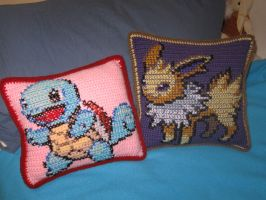 Pokemon Pillow Commission 2 by Milayou