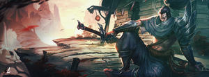 League of Legends Yasuo Facebook Cover by berXamet