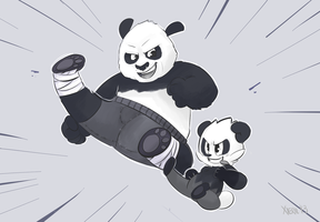 Kung-Fu Pandas by Xieril