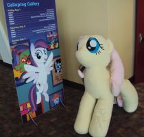 BronyCon '14: Fluttershy Plush Signed by Andrea by PanicPagoda
