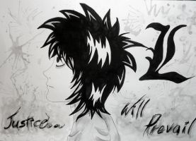 L Lawliet fan art made by me :3 by dark-side-alliance