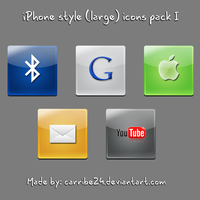 iPhone style large icons I by Carribe24