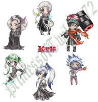 D. Gray-man Chibi Collection by ColeyCannoli