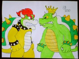 Clash of the Koopa Kings by shnoogums5060