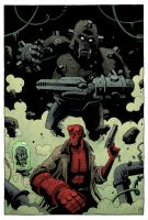 Hellboy vs Kriegaffe by mscorley