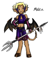 New Character - Meet Malice by FlykyrSkysong