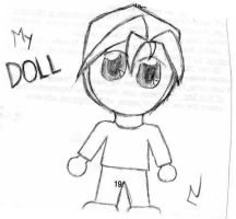 My Doll by Chick-with-a-pencil