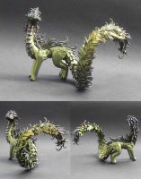 Green dragon with brown accent by MyOwnDragon