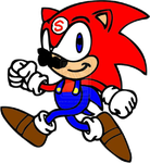 Sonic recolored as Mario by elfofcourage