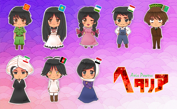 My OCs in Hima Style. by CountriesWorlds
