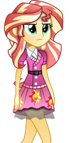Sunset Shimer School Spirt Clothes Shaded by illumnious