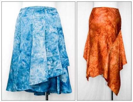 Fire and Water Skirts by SewDesuNe